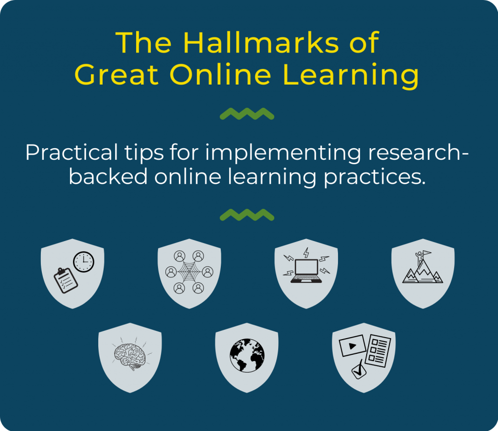 Practical tips for implementing research-backed online learning practices.